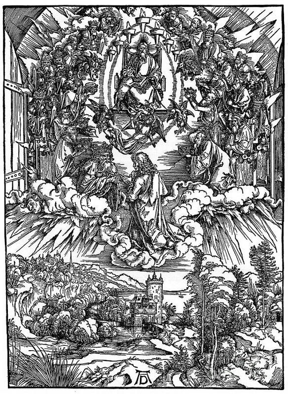 1930-1939 Art Print featuring the drawing Scene From The Apocalypse, St John by Print Collector