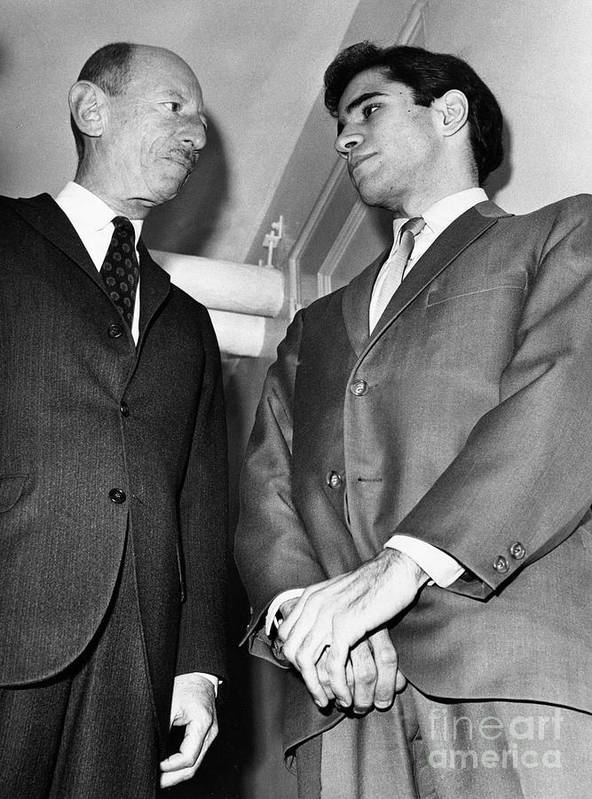Lawyer Art Print featuring the photograph Sirhan Sirhan With Lawyer by Bettmann