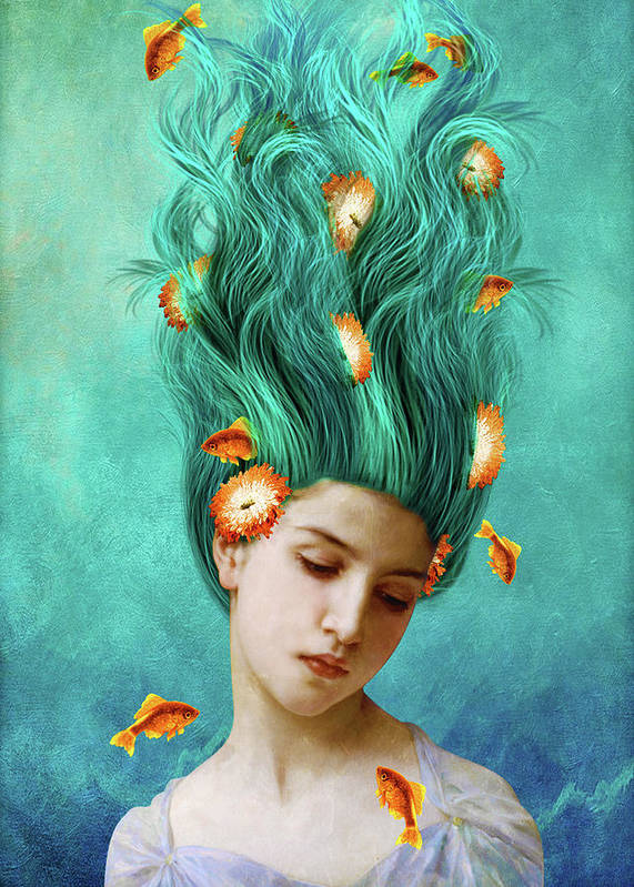 Sweet Allure Art Print featuring the mixed media Sweet Allure by Diogo Ver?ssimo