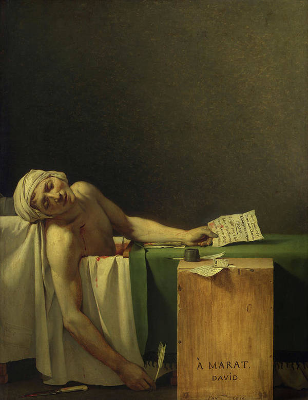 Jacques-louis David Art Print featuring the painting The Death Of Marat, 1793 by Jacques-Louis David