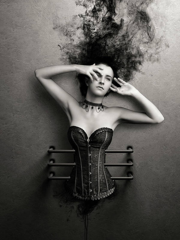 Woman Art Print featuring the photograph Trapped by Johan Swanepoel