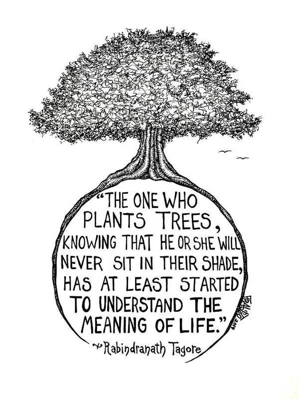 Pen And Ink Illustration Art Print featuring the drawing Meaning Of Life by Rick Frausto