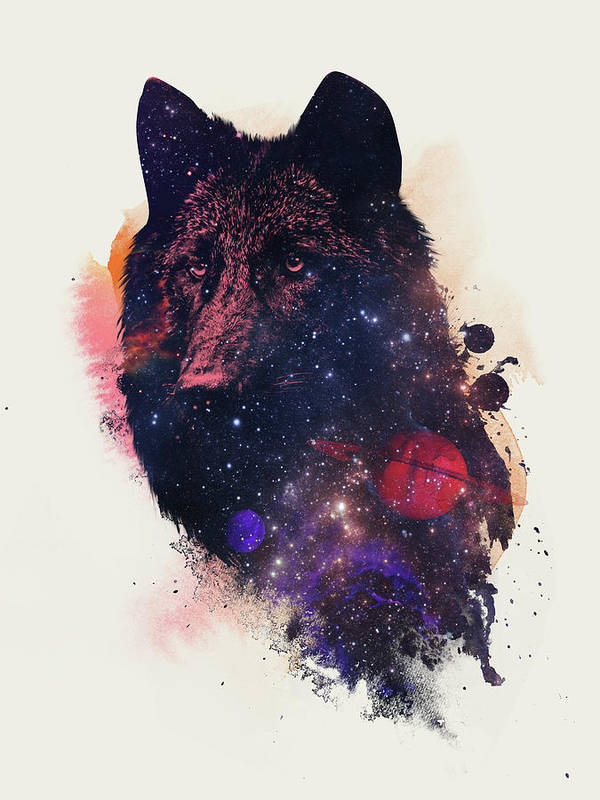 Universal Wolf Art Print featuring the painting Universal Wolf by Robert Farkas