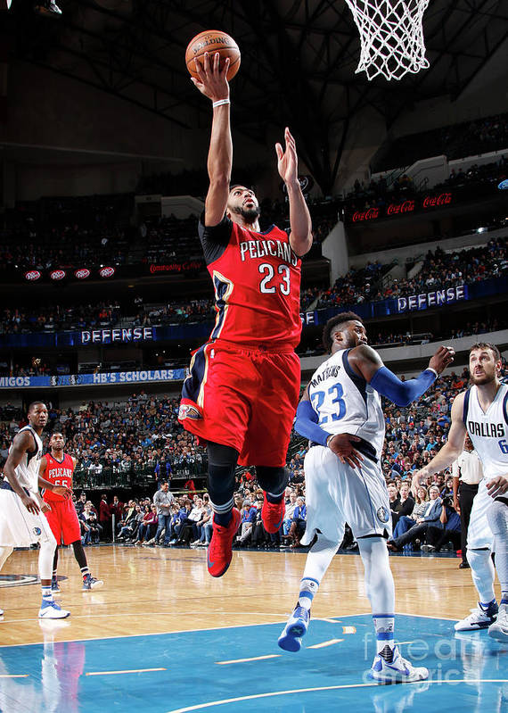 Nba Pro Basketball Art Print featuring the photograph Anthony Davis by Glenn James