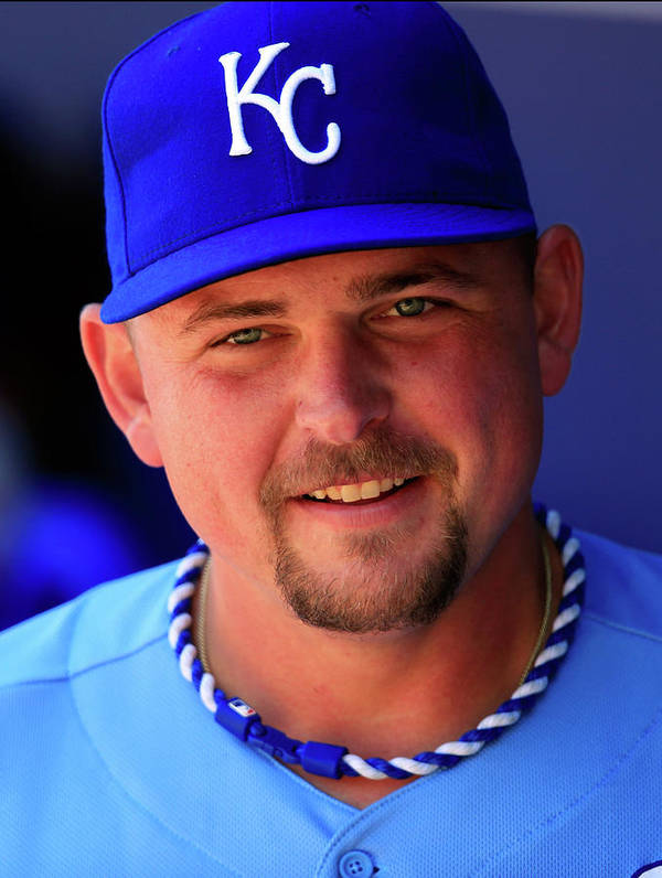 American League Baseball Art Print featuring the photograph Billy Butler by Jamie Squire