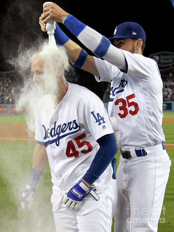 Three Quarter Length Art Print featuring the photograph Cody Bellinger by Harry How
