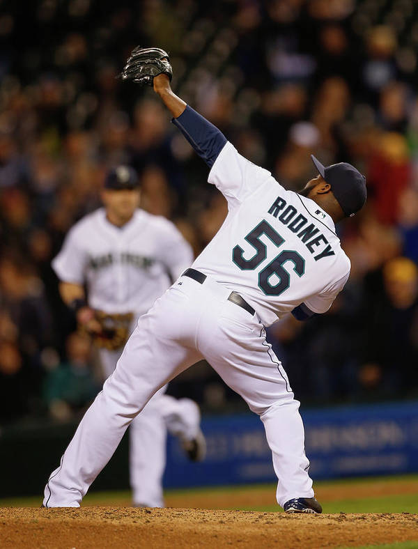 American League Baseball Art Print featuring the photograph Fernando Rodney by Otto Greule Jr