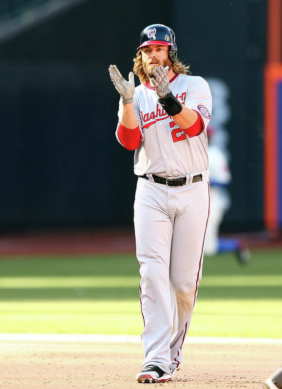 Celebration Art Print featuring the photograph Jayson Werth by Elsa