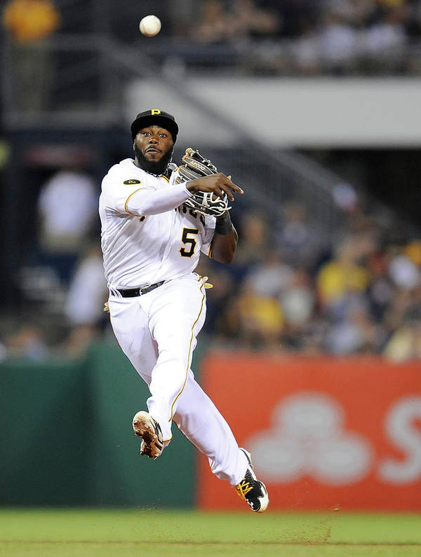 Pnc Park Art Print featuring the photograph Josh Harrison by Joe Sargent