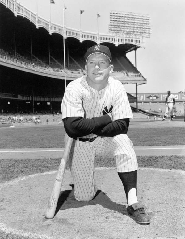 People Art Print featuring the photograph Mickey Mantle by Louis Requena