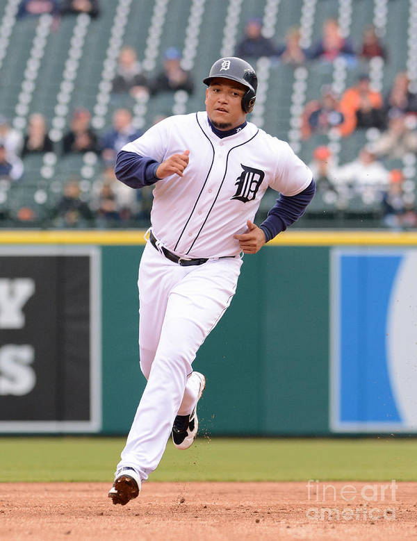 People Art Print featuring the photograph Miguel Cabrera by Mark Cunningham