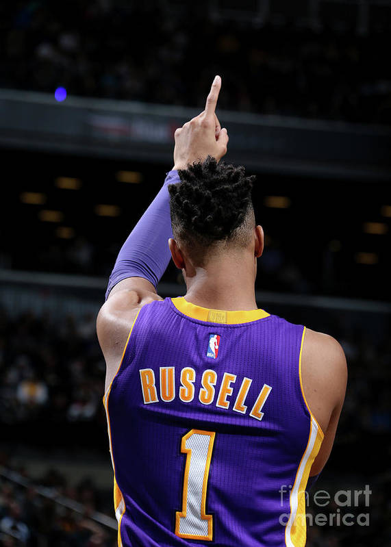 Nba Pro Basketball Art Print featuring the photograph D'angelo Russell by Nathaniel S. Butler