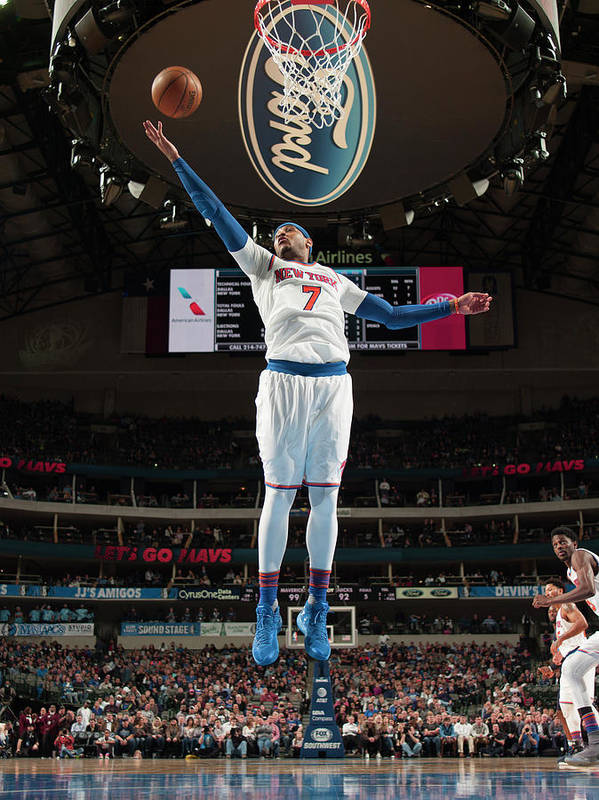 Nba Pro Basketball Art Print featuring the photograph Carmelo Anthony by Glenn James