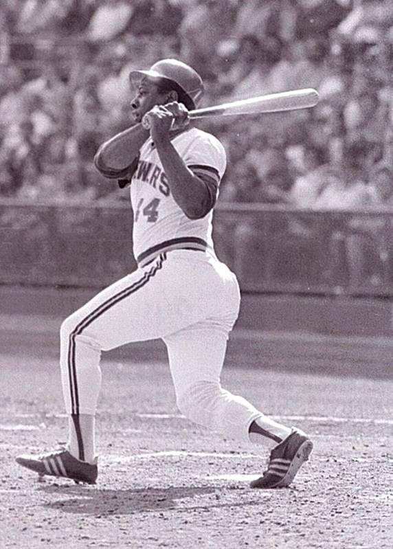 American League Baseball Art Print featuring the photograph Hank Aaron by Ronald C. Modra/sports Imagery