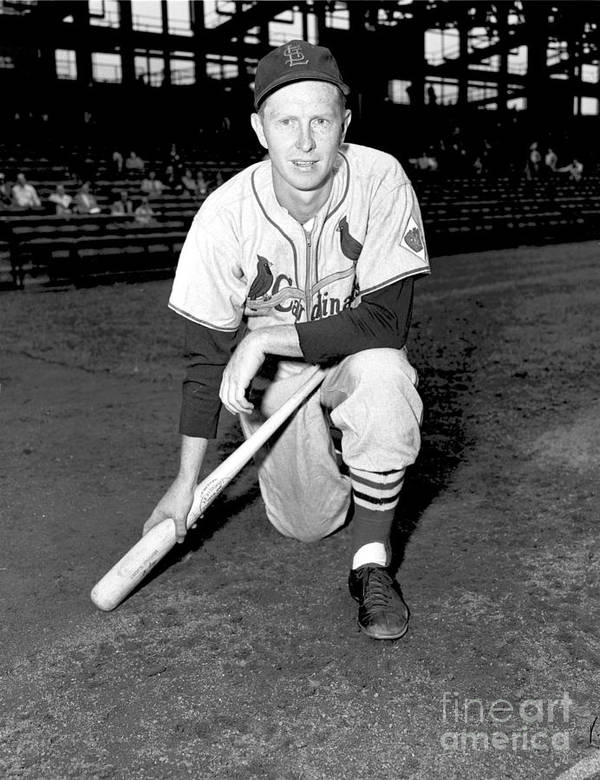 St. Louis Cardinals Art Print featuring the photograph Red Schoendienst by Kidwiler Collection