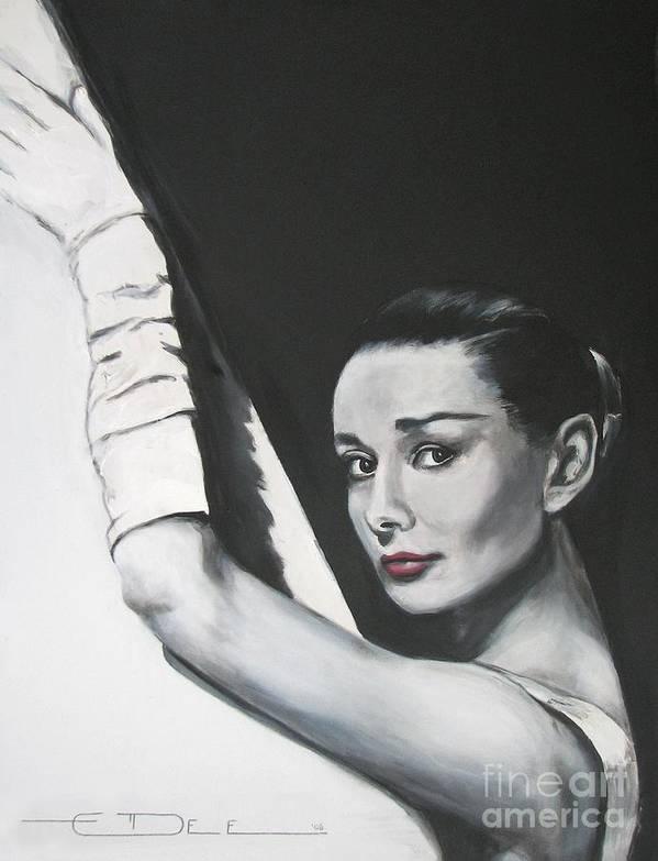 Audrey Hepburn Art Print featuring the painting Audrey Hepburn by Eric Dee