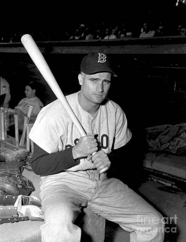 Three Quarter Length Art Print featuring the photograph Bobby Doerr by Kidwiler Collection