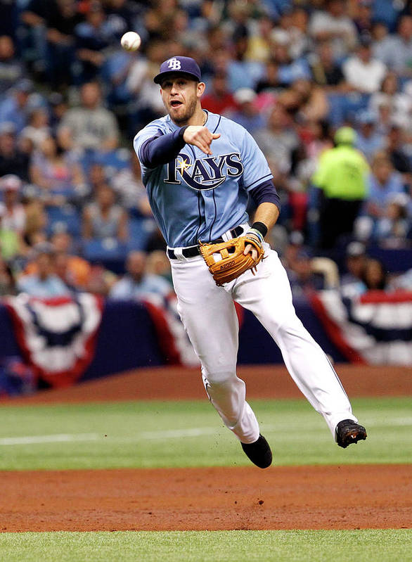 American League Baseball Art Print featuring the photograph Evan Longoria by Brian Blanco