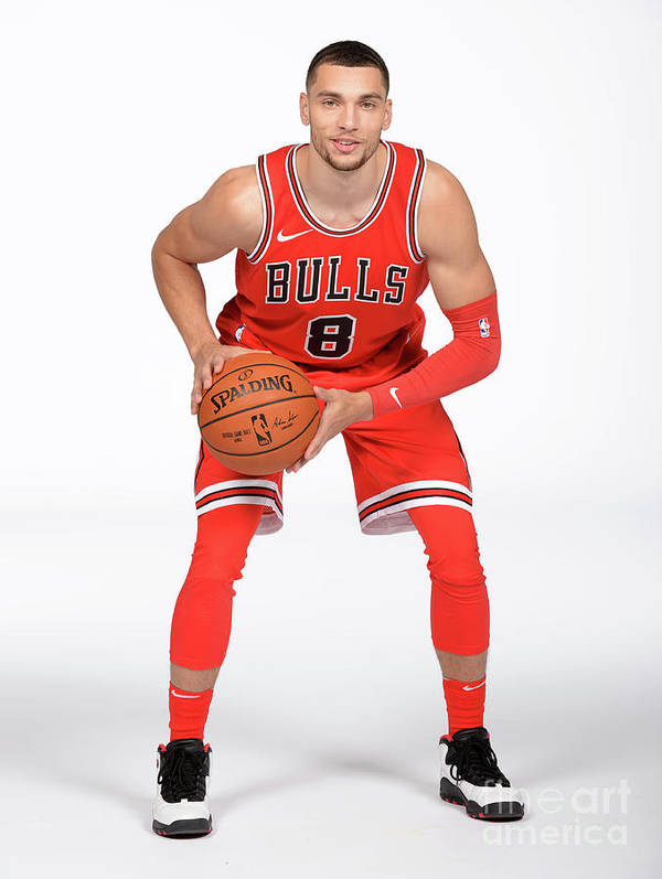 Media Day Art Print featuring the photograph Zach Lavine by Randy Belice