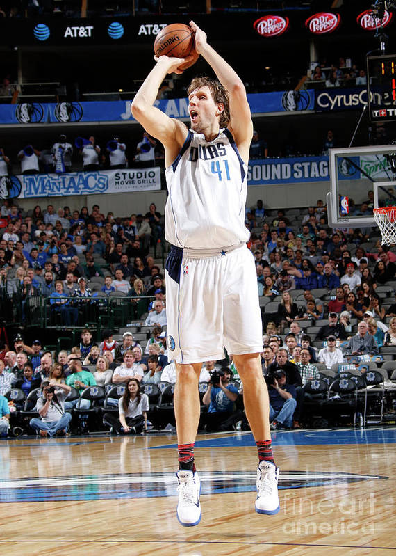 Nba Pro Basketball Art Print featuring the photograph Dirk Nowitzki by Danny Bollinger