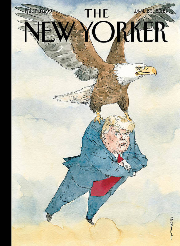 America Art Print featuring the painting A Weight Lifted by Barry Blitt
