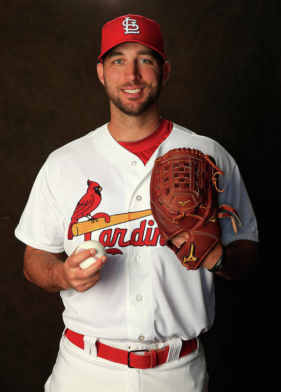 Media Day Art Print featuring the photograph Adam Wainwright by Rob Carr
