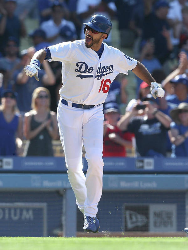 People Art Print featuring the photograph Andre Ethier by Stephen Dunn