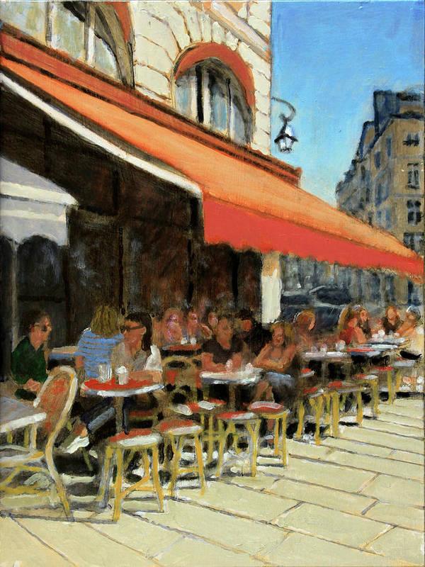 Bar Du Marche Art Print by David Zimmerman