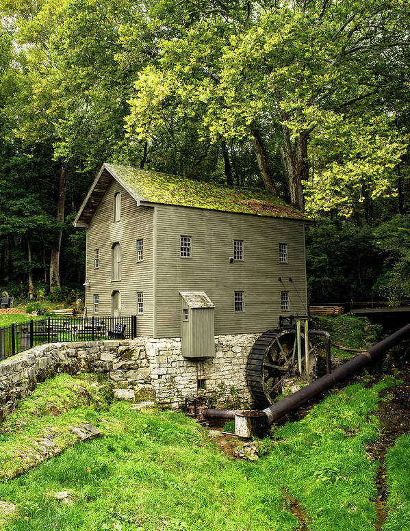 Grist Mill Art Print featuring the photograph Beck's Mill - Salem, Indiana by Scott Smith
