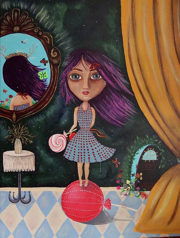 Big eyed little girl  by Anneliese OBannon-Robles
