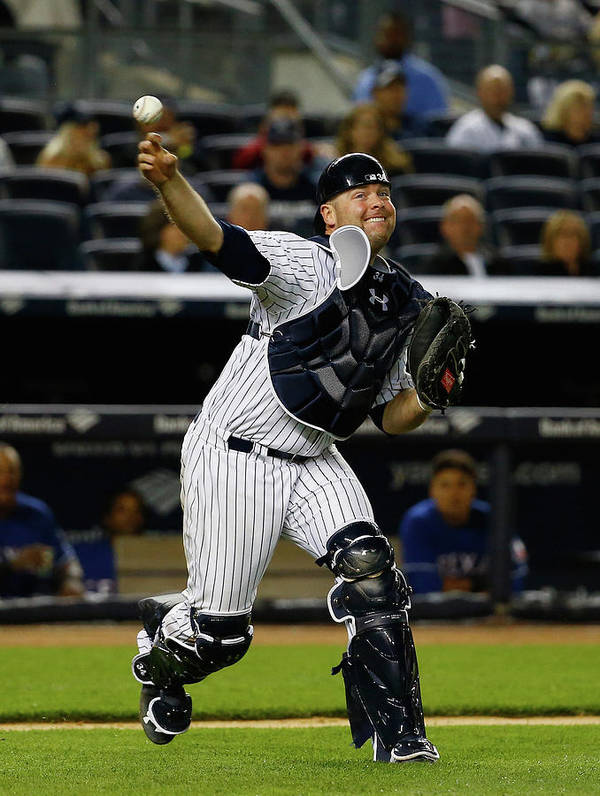 Brian Mccann Art Print featuring the photograph Brian Mccann by Al Bello