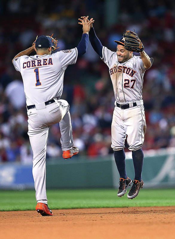 People Art Print featuring the photograph Carlos Correa by Jim Rogash