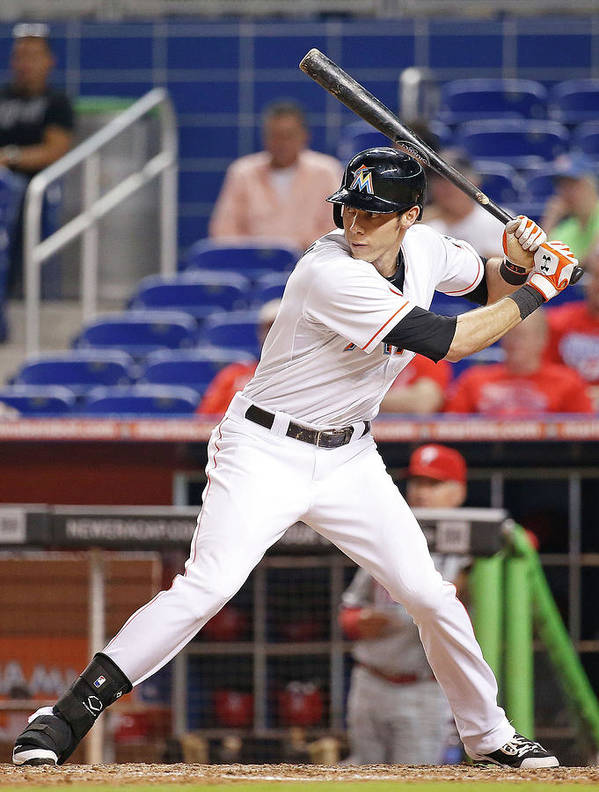 American League Baseball Art Print featuring the photograph Christian Yelich by Rob Foldy