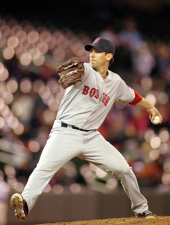 American League Baseball Art Print featuring the photograph Craig Breslow by Andy King