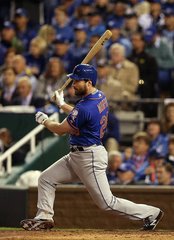 Playoffs Art Print featuring the photograph Daniel Murphy by Brad Mangin