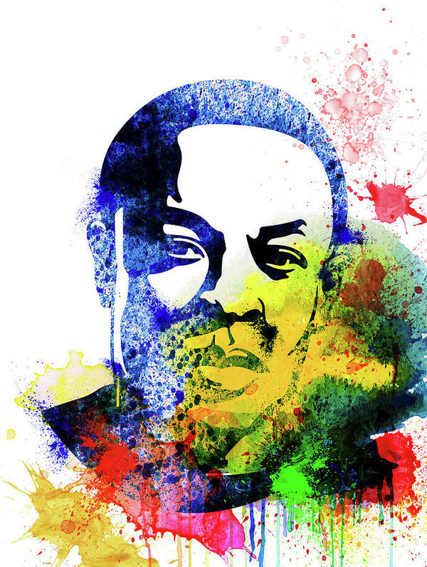 Dr. Dre Art Print featuring the mixed media Dr. Dre Watercolor by Naxart Studio