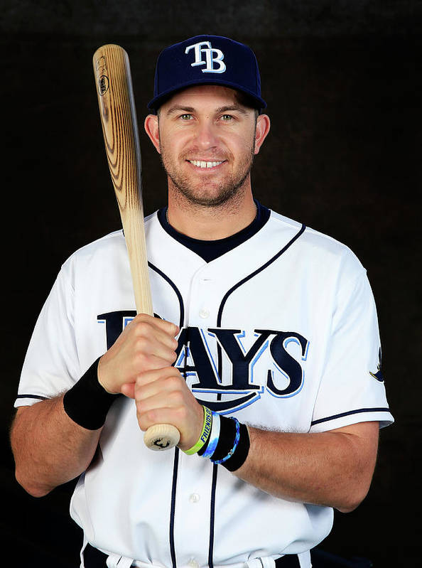 Media Day Art Print featuring the photograph Evan Longoria by Rob Carr