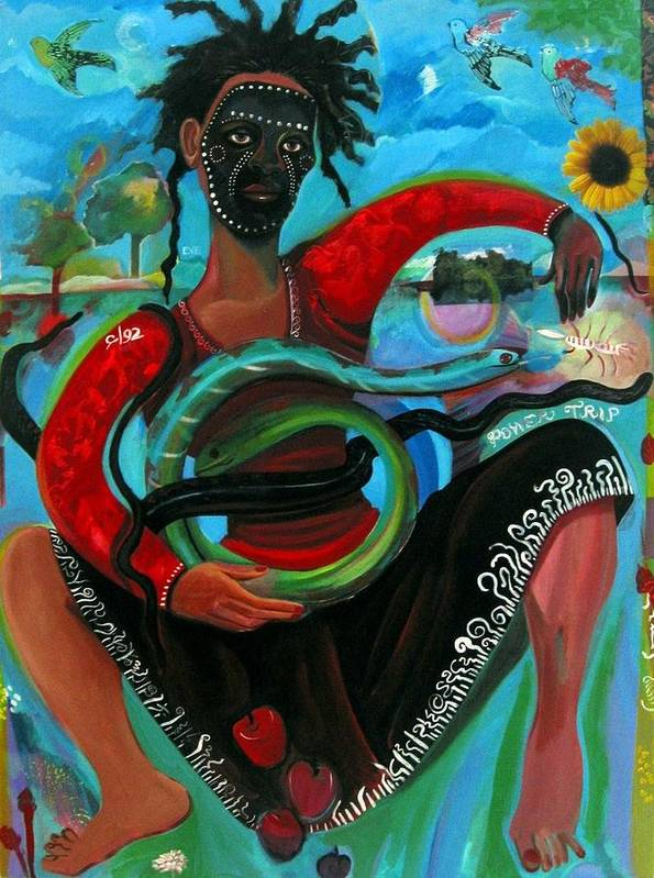 Figure Art Print featuring the painting Eves Power Trip by Joyce Owens