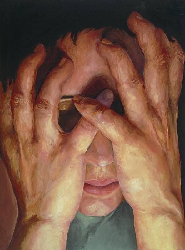 Hands Art Print featuring the painting Feelings by Patricia Awapara