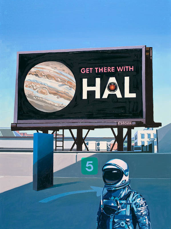 Astronaut Art Print featuring the painting Get There With HAL by Scott Listfield