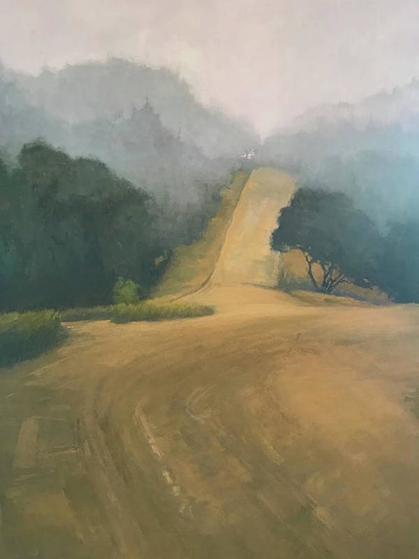 Art Print featuring the painting Headlands by Mary Jo Van Dell