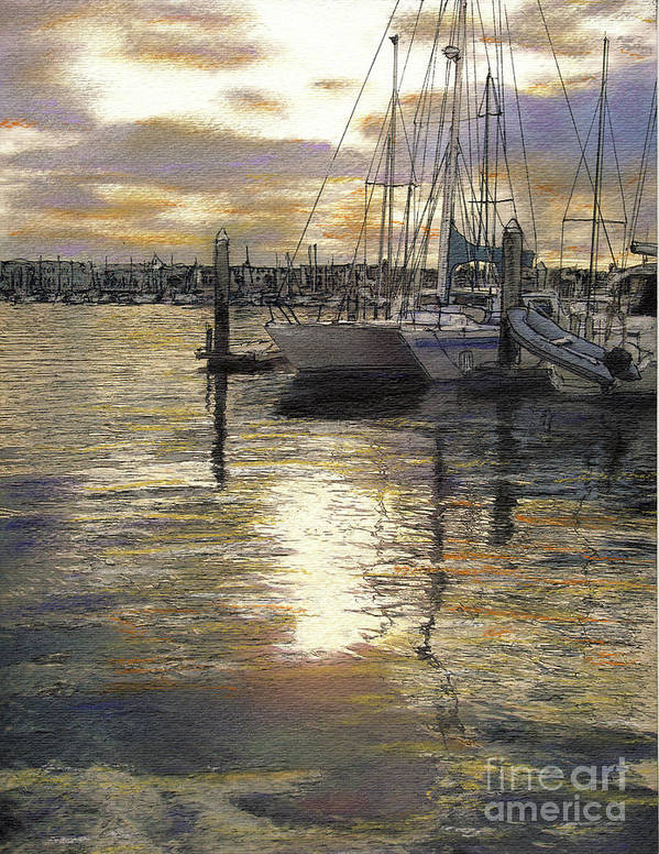 Reflections Art Print featuring the pastel Hiolani II by Randy Sprout