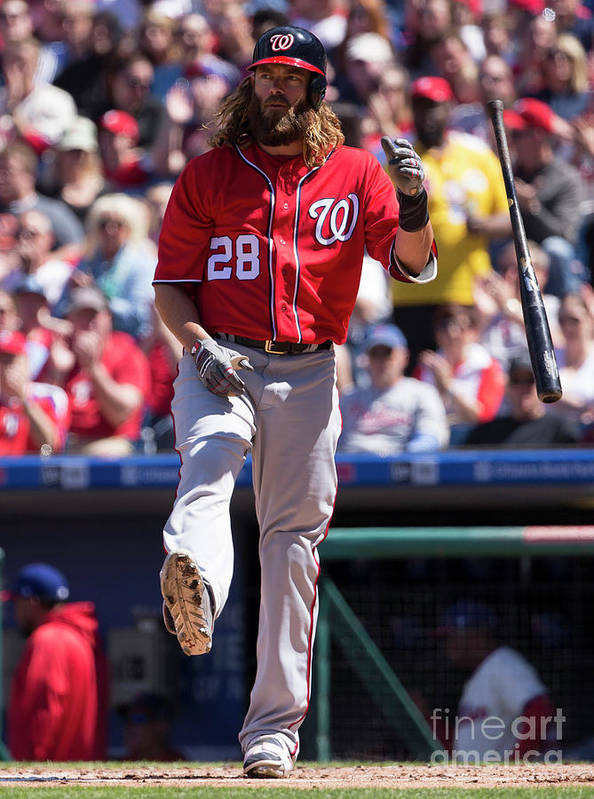 Second Inning Art Print featuring the photograph Jayson Werth by Mitchell Leff