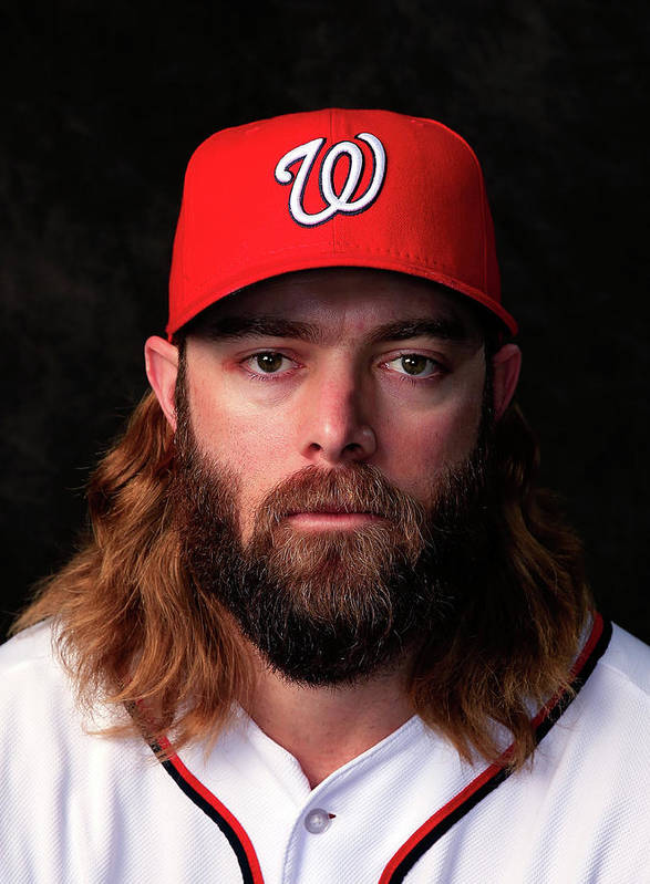 Media Day Art Print featuring the photograph Jayson Werth by Rob Carr