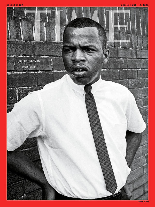Rep. John Lewis Art Print featuring the photograph John Lewis 1940-2020 by Steve Schapiro Getty Images
