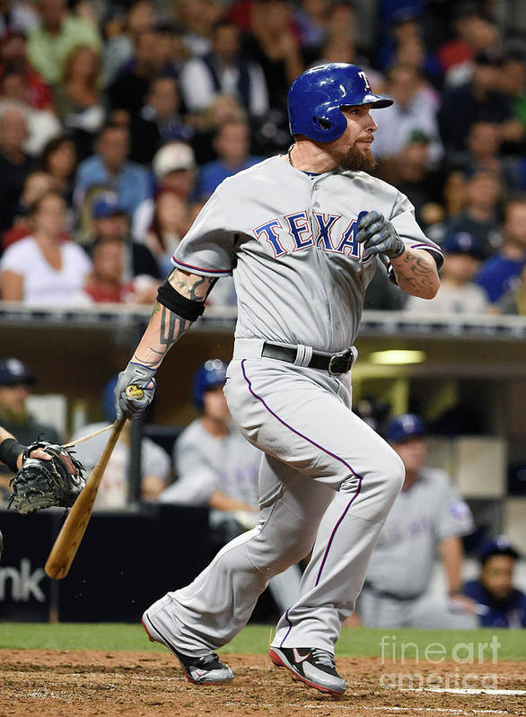 Ninth Inning Art Print featuring the photograph Josh Hamilton by Denis Poroy