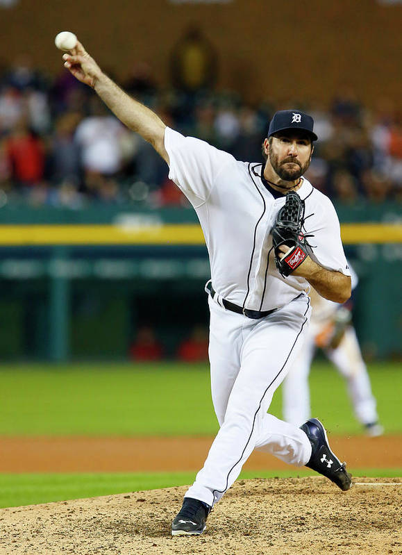 Ninth Inning Art Print featuring the photograph Justin Verlander by Duane Burleson