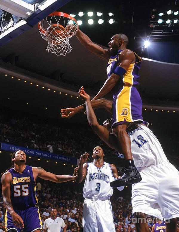 Nba Pro Basketball Art Print featuring the photograph Kobe Bryant and Dwight Howard by Fernando Medina