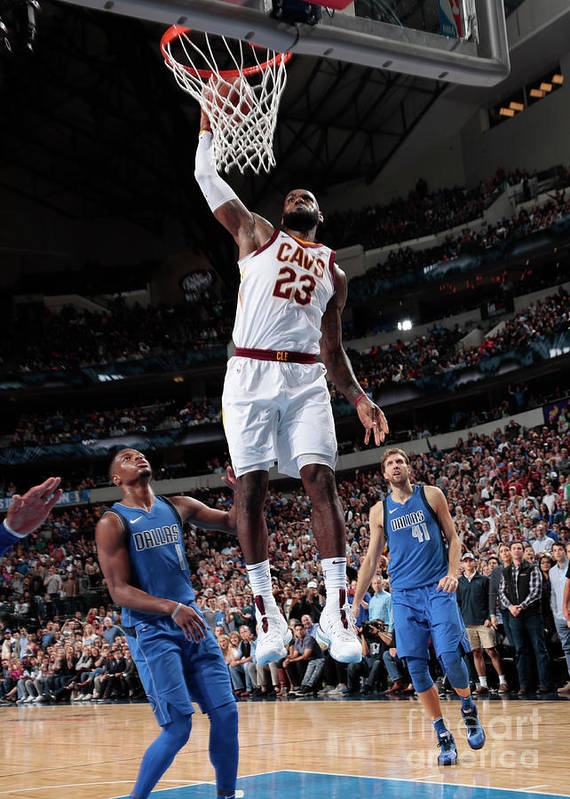 Nba Pro Basketball Art Print featuring the photograph Lebron James by Glenn James