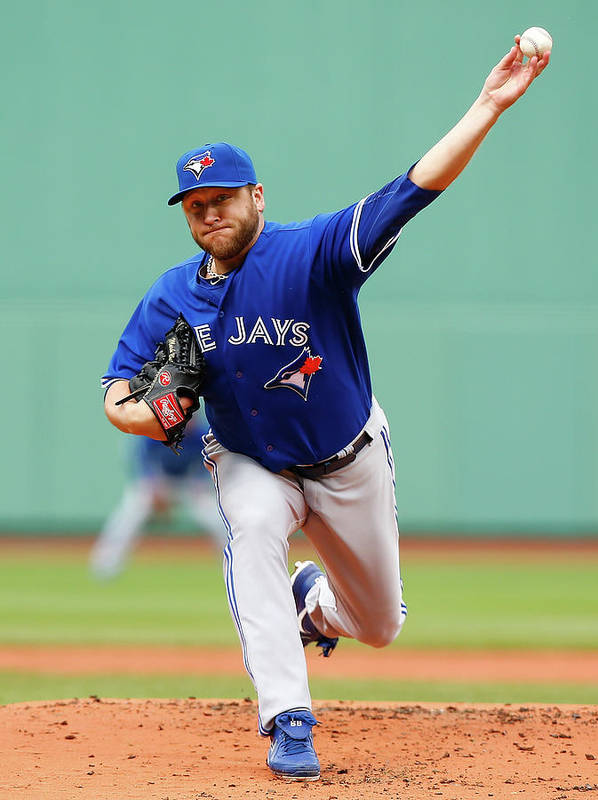 American League Baseball Art Print featuring the photograph Mark Buehrle by Jared Wickerham
